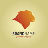 狮子顶头商标设计模板 库存图片