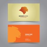 狮子顶头商标设计模板 免版税图库摄影