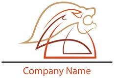 狮子顶头商标设计 免版税图库摄影
