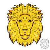 狮子顶头商标 库存照片