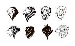 狮子顶头商标 免版税库存照片