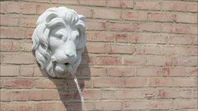 狮子顶头喷泉 免版税图库摄影