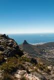 狮子顶头小山在开普敦南非 免版税库存图片