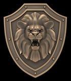 狮子顶头纹章 免版税库存图片