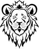 狮子顶头纹身花刺 免版税库存照片