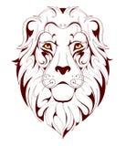 狮子顶头纹身花刺 库存照片
