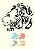 狮子顶头装饰品 免版税图库摄影