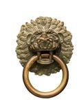 狮子顶头通道门环和圆环 免版税图库摄影