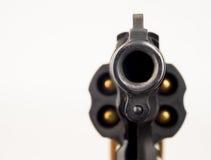 38狮子鼻左轮手枪武器枪指向观察者 库存图片