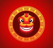 狮子头微笑在春节 皇族释放例证