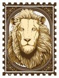 葡萄酒狮子 免版税库存照片