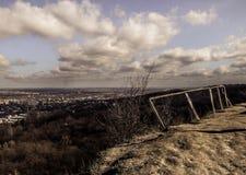从狮子` s山的看法在利沃夫州 免版税库存图片