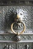 狮子doorknocker大教堂科隆 图库摄影