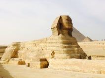 狮身人面象侧视图,开罗,埃及旅行 图库摄影