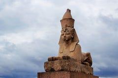 狮身人面象在彼得斯堡 免版税库存照片