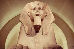 Tanis伟大的狮身人面象在Musee天窗的 库存图片
