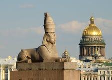 狮身人面象的古老雕塑 库存照片