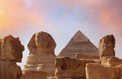 狮身人面象的照片在埃及 库存图片