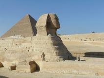 狮身人面象的雕象在埃及 免版税库存照片