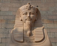 狮身人面象 沙子雕塑 免版税图库摄影