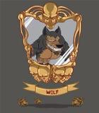 狼人。万圣夜妖怪 皇族释放例证