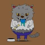 狼人动画片传染媒介 库存照片