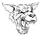 狼人或狼字符 免版税库存照片