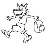 狼和袋子,彩图 库存照片