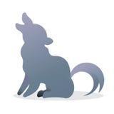 狼商标象 免版税图库摄影