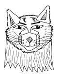 狼纵向 免版税库存照片