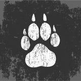 狼踪影,有印刷品的,传染媒介商标T恤杉 向量例证