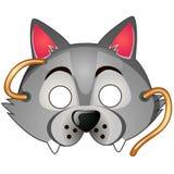 狼面具 狂欢节和化妆舞会辅助部件 库存照片