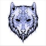 狼顶头传染媒介设计 皇族释放例证