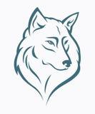 狼题头 向量例证