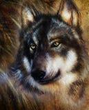 狼绘画 向量例证