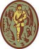 猎人先驱步枪设陷阱捕兽者 免版税库存照片