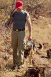 猎人狩猎 免版税图库摄影