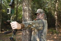 猎人狩猎 免版税库存图片