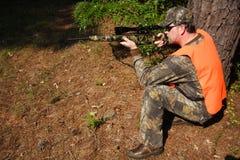 猎人狩猎 免版税库存照片