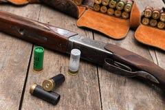 猎人的弹药 免版税库存照片
