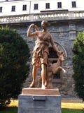 猎人的雕象 免版税图库摄影