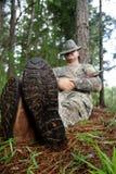 猎人运动员 图库摄影