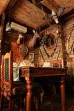 猎人s房子内部  免版税库存照片
