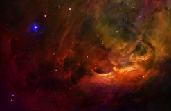 猎户星座天空空间满天星斗超现实 免版税库存图片