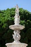 猎户星座, Piazza di Duomo,墨西拿,西西里岛,意大利喷泉  免版税库存图片