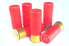 猎枪12口径的弹药筒 库存照片