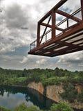 猎物公园的观察台在温斯顿萨兰姆 免版税库存图片