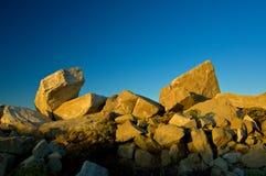 猎物沙子石头日出 库存图片