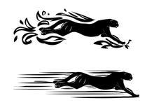 猎豹纹身花刺 免版税库存照片