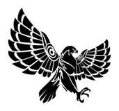 猎鹰纹身花刺 图库摄影